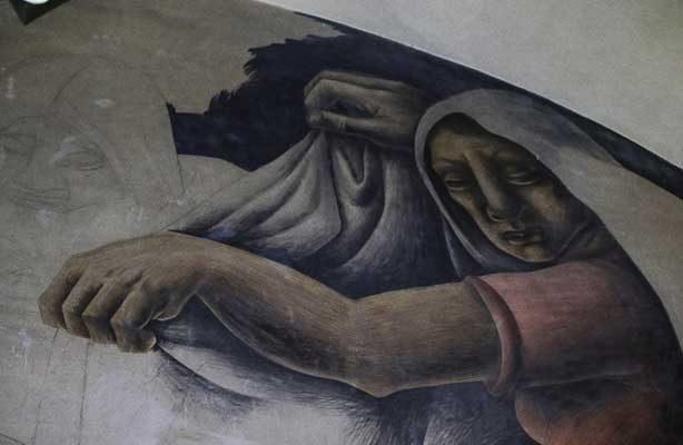 """Descartan daños graves a murales de la biblioteca Iberoamericana """"Octavio Paz"""""""