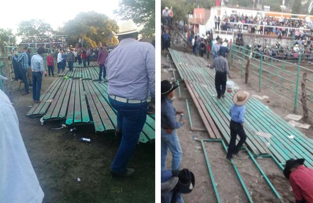 Colapsan gradas en plaza de toros en Guadalajara