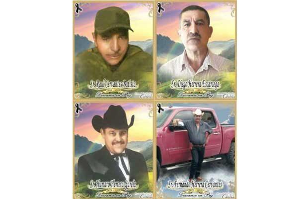 Velan a los cuatro hombres muertos en Guajolotes, Balleza