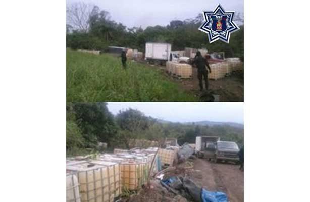 Capturan huachicoleros con más de 30 mil litros de hidrocarburos en Oaxaca