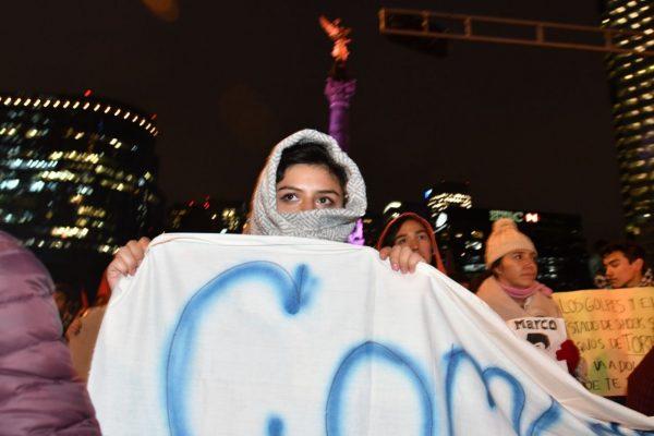 Estudiantes de la Prepa 8 marchan en apoyo a Marco Antonio Sánchez