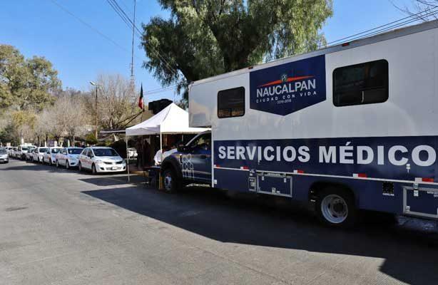 DIF Naucalpan lleva jornadas médicas a taxistas