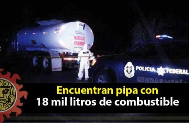 En Altamira,  encuentran Pipa Abandonada con 18 Mil Litros de Combustible