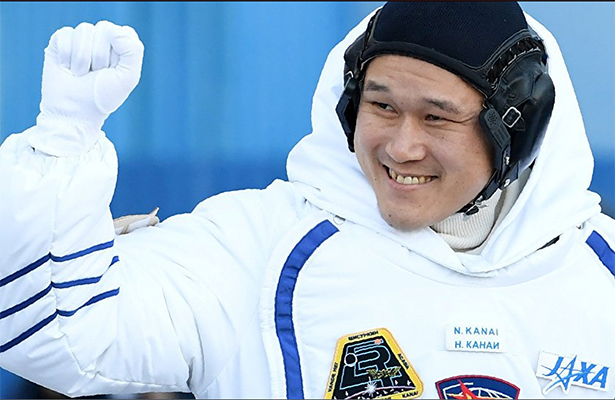 Astronauta japonés crece en la estación espacial Internacional