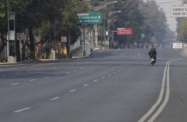 Con calles vacías inicia el año en la Ciudad de México