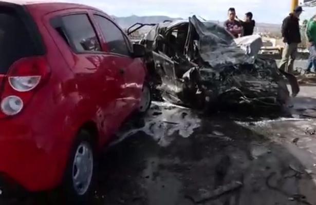 Carambola en la carretera Federal México 57, deja un muerto