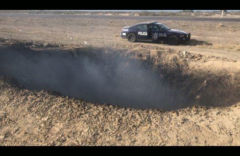 Se abre la tierra en Saltillo
