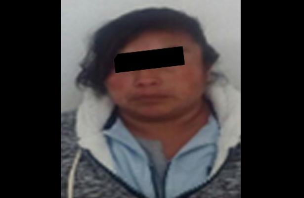 La detienen por probable responsable del delito de robo, en Metepec