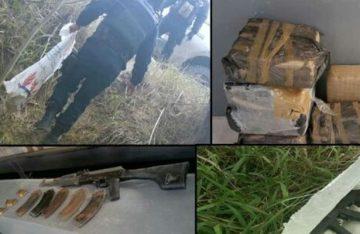 Aseguran droga y armas durante operativo, en Tamaulipas