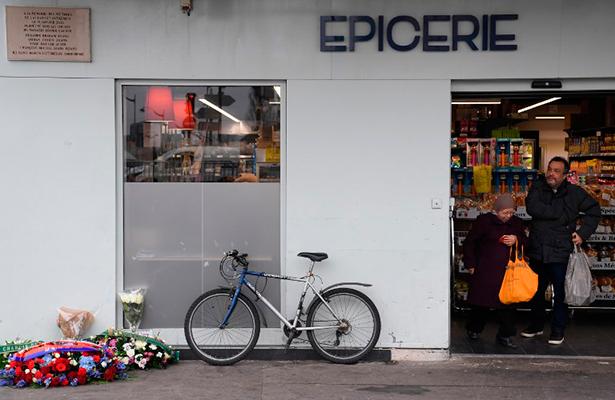 Homenaje en París a las víctimas de los atentados de enero de 2015