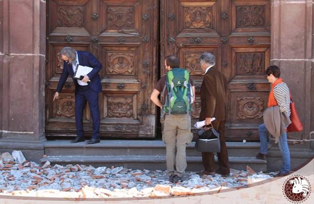 Iglesia de Xochimilco todavía tiene escombros del terremoto
