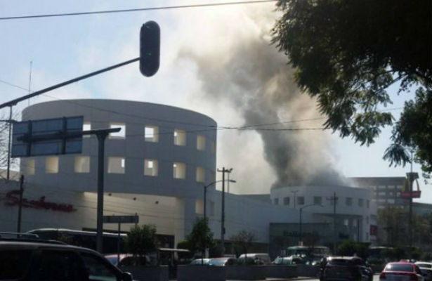 Incendio en Plaza Universidad