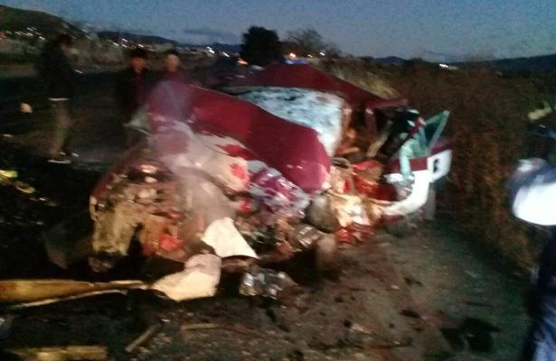 Siete muertos en aparatoso choque en la carretera a Mitla