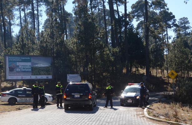 Reforzaron seguridad en el Nevado de Toluca