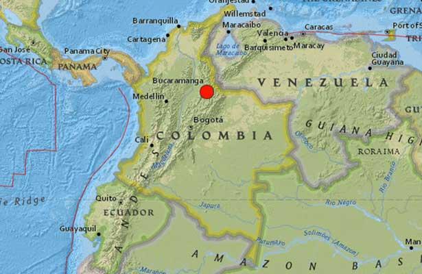 Sismo de 5.5 grados sacude Colombia