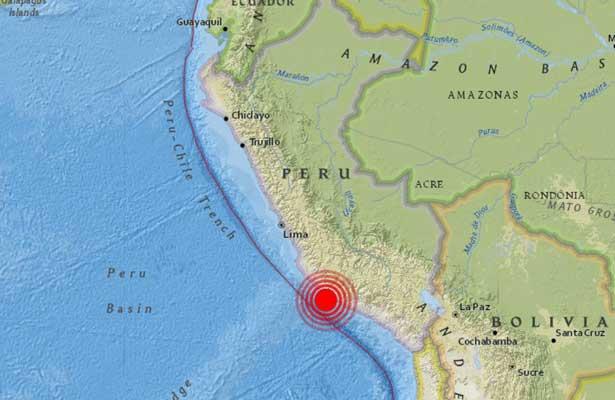 Sismo de 6.8 en el sur de Perú deja al menos dos muertos