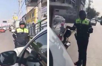 Policía de tránsito grosero y violento en Tultitlán, ¡qué miedo!