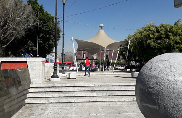 Zona cultural abandonada en Cuauhtémoc