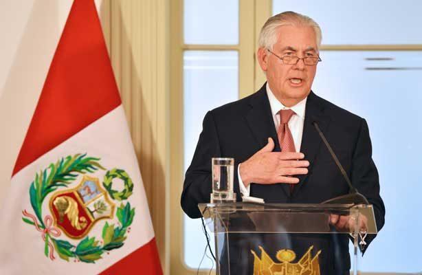 Tillerson reconoce que EU es el mayor mercado para la droga latinoamericana