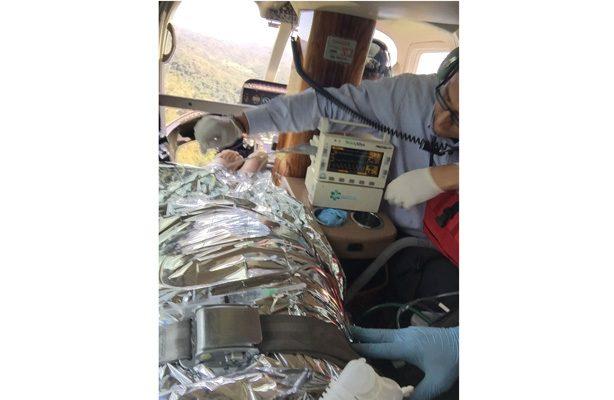 Auxilio aéreo a pacientes graves tras accidente en Bahía de Banderas