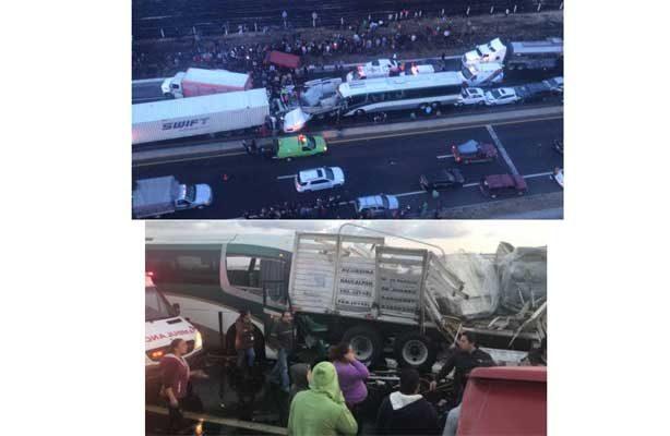 Reportan carambola en la autopista Toluca-Lerma; al menos dos muertos y ocho heridos