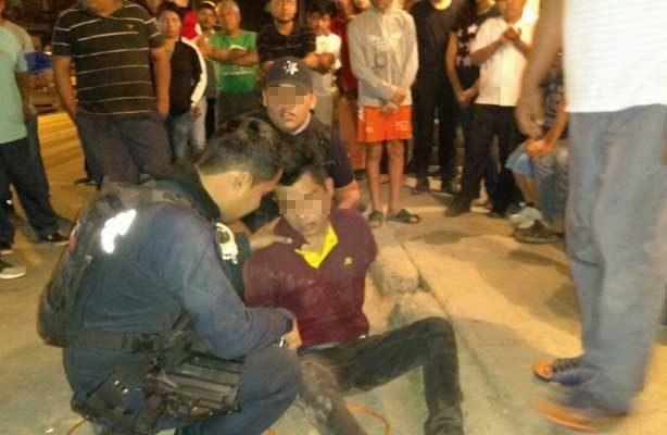 Casi linchan a presunto delincuente en Altamira