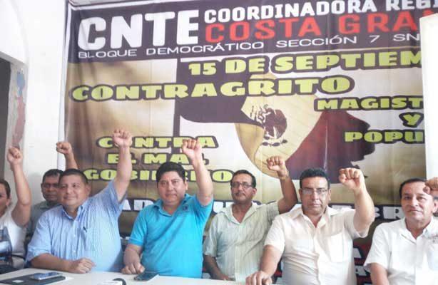 Exige CNTE reconstrucción de escuelas en Chiapas