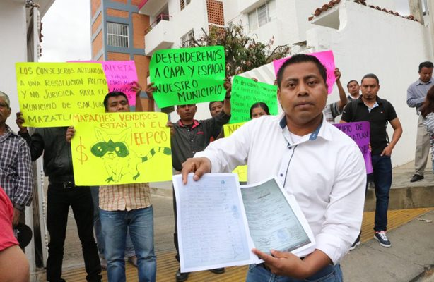 Comuna denuncia clima de inseguridad en Oaxaca ante el INE