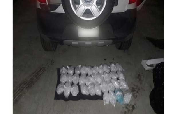 En dos acciones Policía Federal asegura más de 22 kilos de droga sintética, en Sinaloa