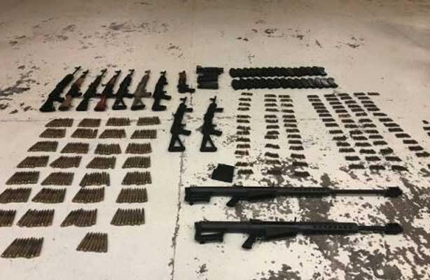 Aseguran armas y drogas en Tamaulipas