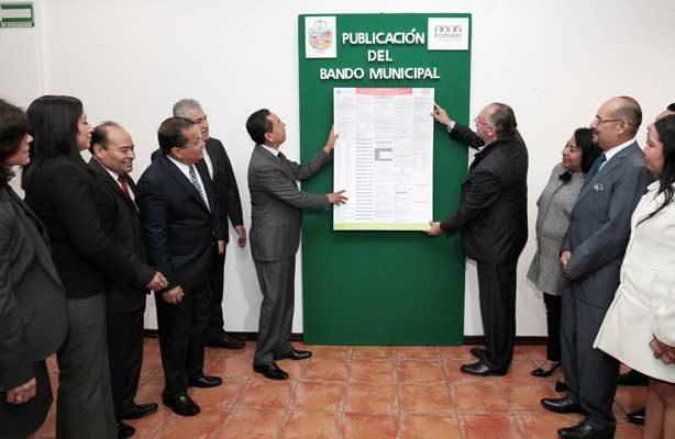 Fomentan desarrollo económico en Ecatepec con actualizaciones en el Bando Municipal