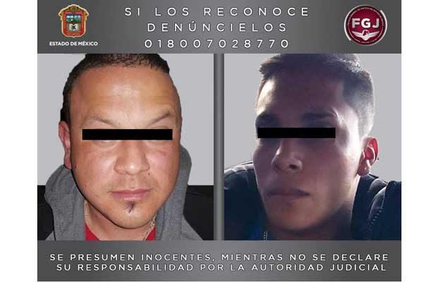 Detienen la FGJEM a dos sujetos que se fugaron de un penal del Estado de Hidalgo