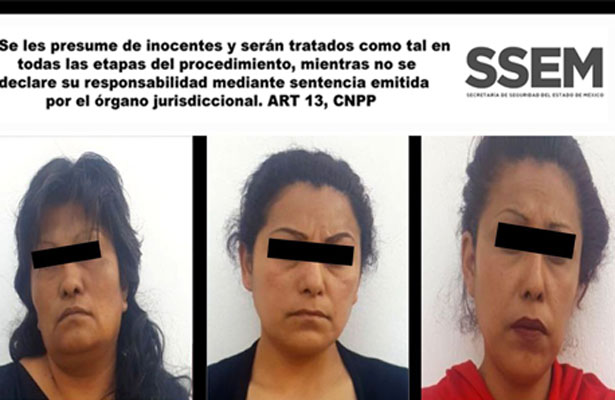 Tres peligrosas damas fueron detenidas
