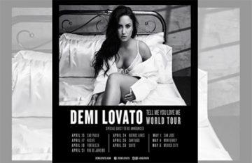 Demi Lovato anuncia gira en México