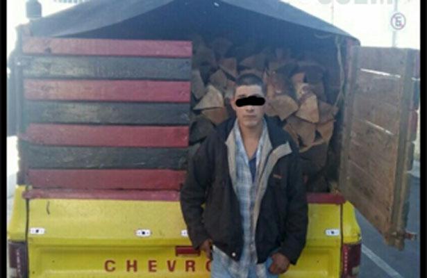 Detienen a talador clandestino en el Estado de México