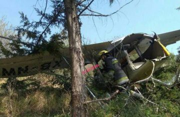 Se desploma avioneta en Atizapán