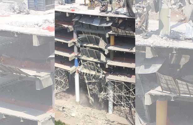 Colapsa estructura de un edificio en Polanco