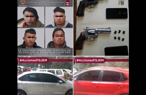 Capturan a cuatro con droga y armas en Texcoco