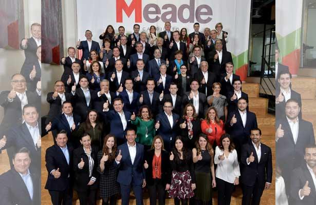 Presenta Meade a su equipo de trabajo