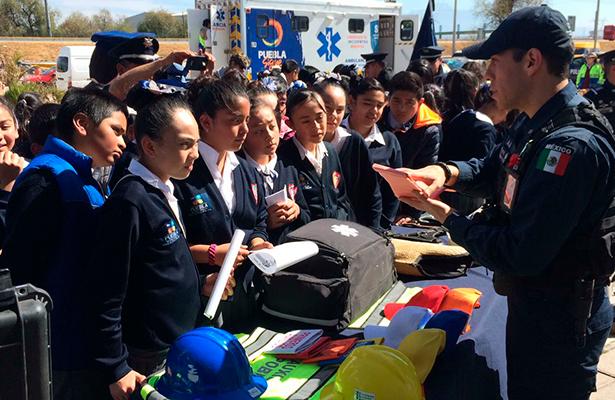 Policía Federal realiza convivencia e imparte pláticas de prevención a habitantes de Huejotzingo, Puebla