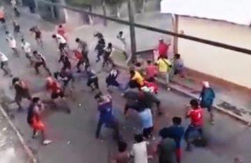 Fiesta carnavalera se convirtió en un campo de batalla