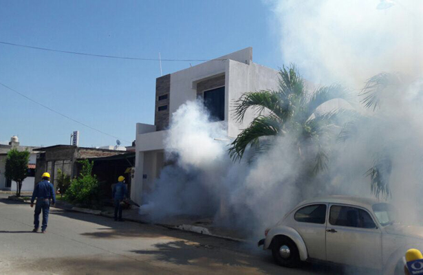 Fumigan contra dengue, zika y chikungunya, en la Frontera Sur