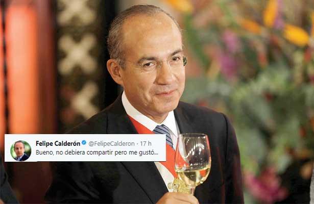 Felipe Calderón compartió algo que no debería pero le gustó