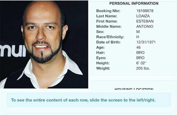 Arrestan a Esteban Loaiza con 20 kilos de coca en EUA