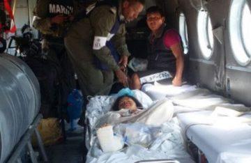 Trasladan a pequeña sobreviviente de la tragedia en Jamiltepec
