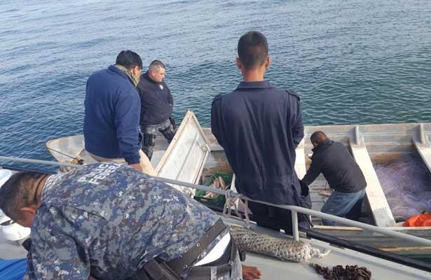 Detienen a cuatro por pesca ilegal en el Golfo de California