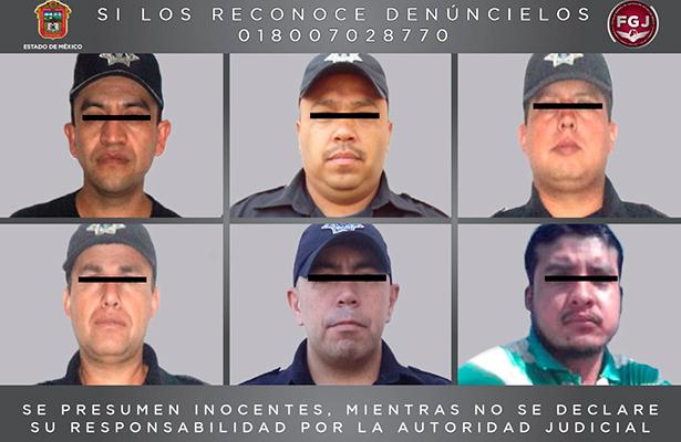 Detiene FGJEM a cinco policías de valle de bravo por el delito de desaparición forzada
