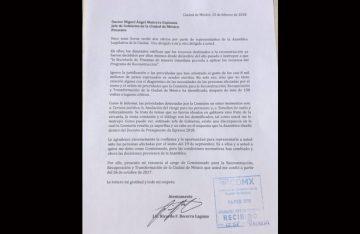Renuncia comisionado de la reconstrucción en CDMX