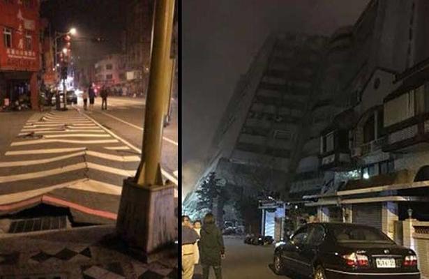 Fuerte sismo de 6.0 grados sacude Taiwán