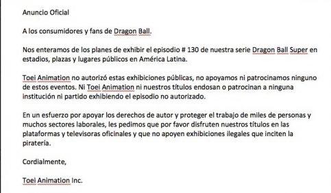 Oficial: habrá Dragon Ball en la X